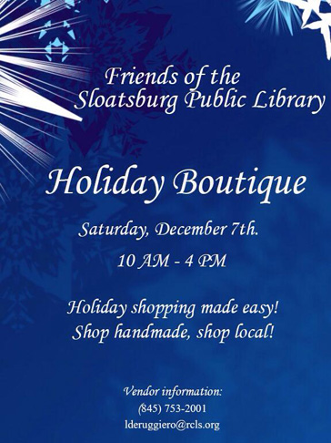Holiday Boutique @ Sloatsburg Public Library  | Sloatsburg | New York | United States