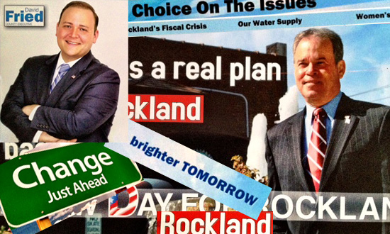 Collage of Rockland County Executive campaign messages.