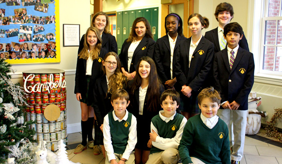"Students at Tuxedo Park School celebrate their ""Canstruction"" project which was donated to the Sloatsburg UMC Food Pantry."