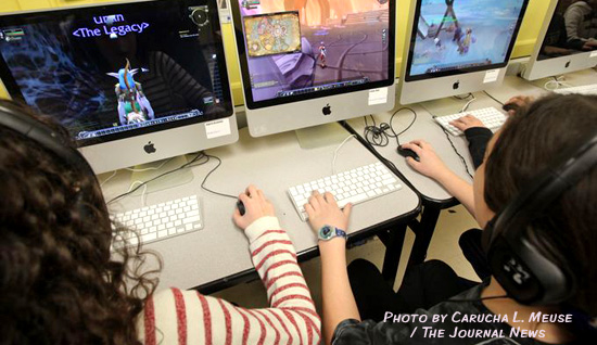 Suffern Middle School students learn to navigate the hero's journey through online gaming.
