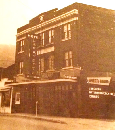 Way back when the Hotel Lafayette stood its ground in Suffern, NY. / via Suffern historical documents.