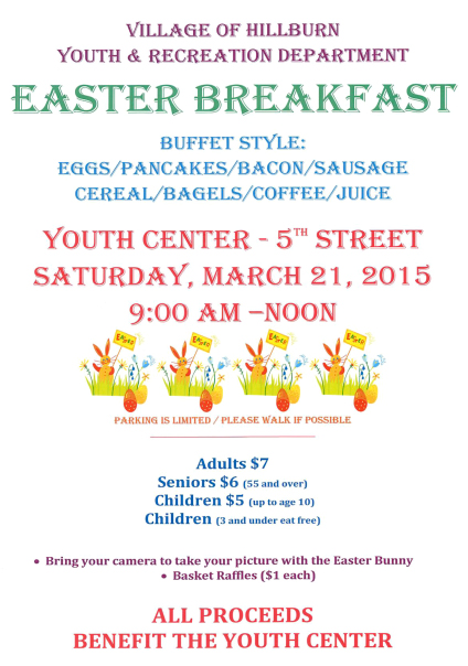 Easter Breakfast @ Hillburn Youth Center | Hillburn | New York | United States