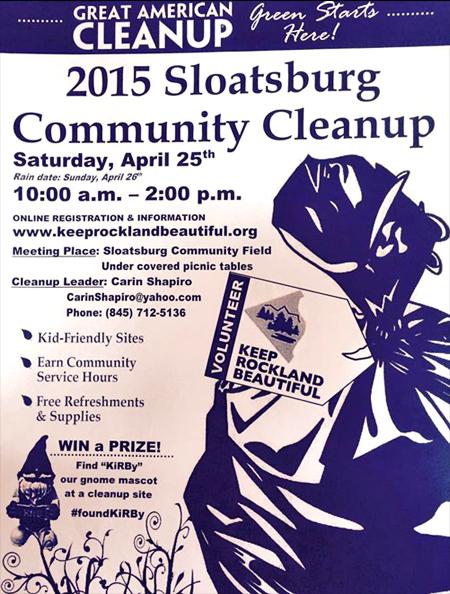 Sloatsburg Cleanup @ Sloatsburg Community Fields