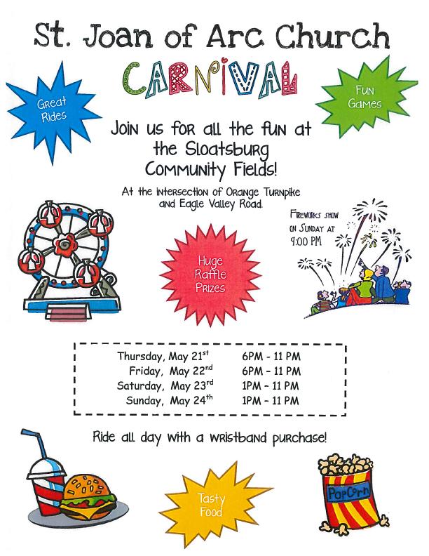 St. Joan of Arc Carnival @ Sloatsburg Community Fields | Sloatsburg | New York | United States