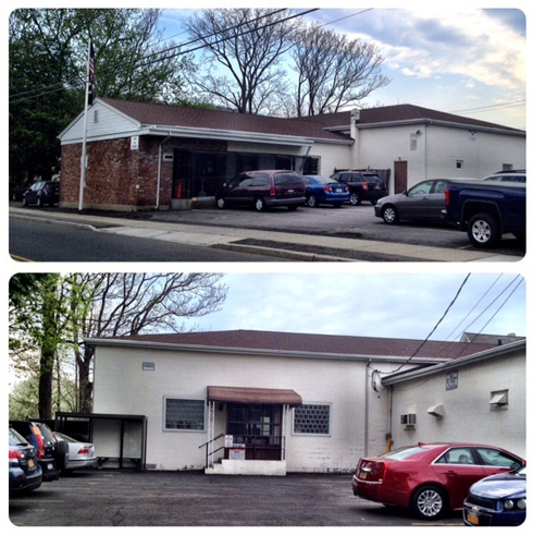 Suffern VFW property that the village has agreed to acquire that includes valuable rental parking spaces.