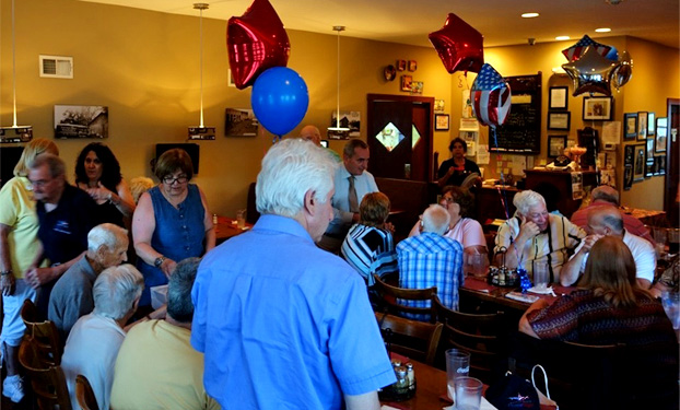 Sunnyside's Bar & Grill was the sight of a recent dinner celebrating Sloatsburg's WWII veterans.