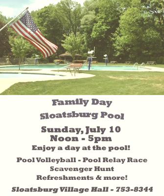Family Day @ Sloatsburg Community Pool | Sloatsburg | New York | United States