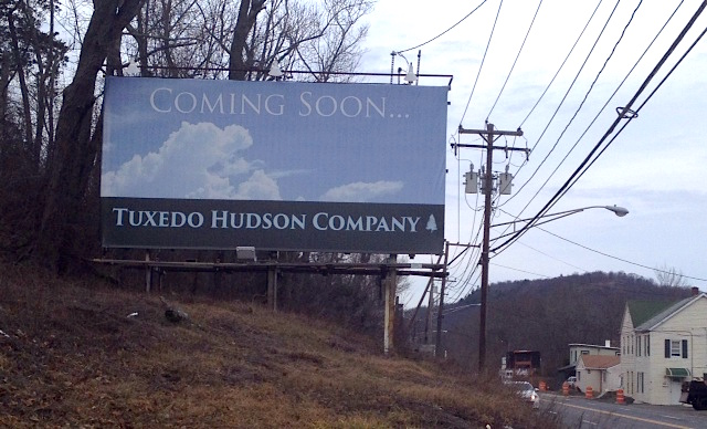Michael Bruno's new Tuxedo Hudson Company kicked off a billboard promotion campaign along the Tuxedo/Sloatsburg corridor.