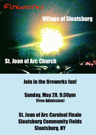 Sloatsburg Carnival Fireworks @ Sloatsburg Community Fields | Sloatsburg | New York | United States
