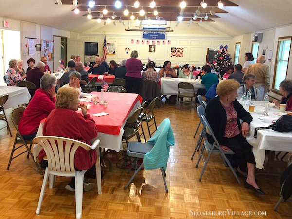 Seniors and family members enjoyed a lunch complete with birthday cake at the Sloatsburg Senior Center, which celebrated those members who turned 90 years old this year.