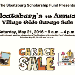 Sloatsburg Scholarship Fund Village Wide Sale