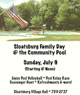 Family Day @ Sloatsburg Community Pool | Sloatsburg | New York | United States