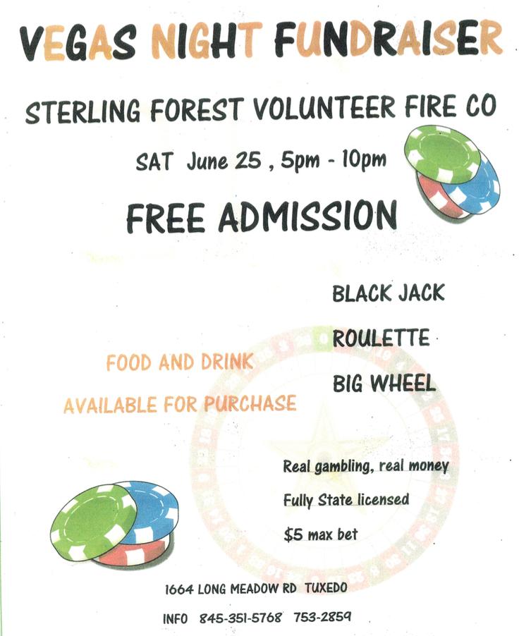 Vegas Night Fundraiser @ Sterling Forest Volunteer Fire Co   Tuxedo Park   New York   United States
