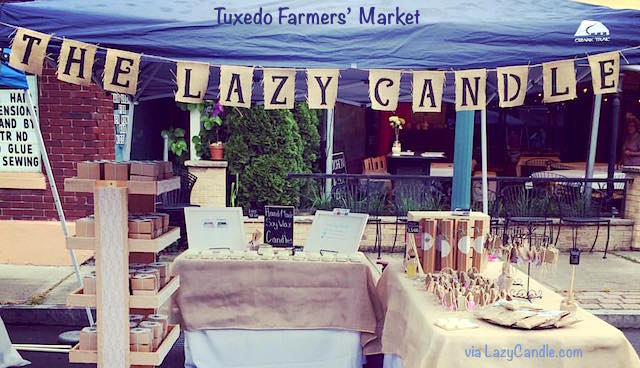 The Lazy Candle is Sloatsburger Samantha Remmell's hand-made candle business. She hopes to one day see her soy candles and colorful merchandise on its own shelves in her own store. Visit the Lazy Candle at the Tuxedo Famers' Market Saturday, June 18.