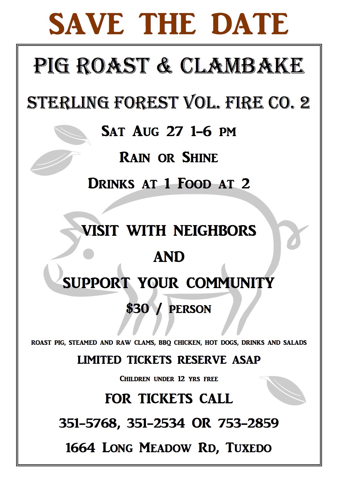 Pig Roast @ Sterling Forest Vol. Fire Co. 2 | Tuxedo Park | New York | United States