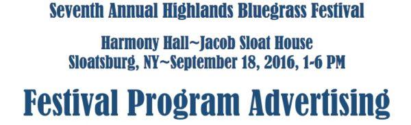 bluegrass festival program ad