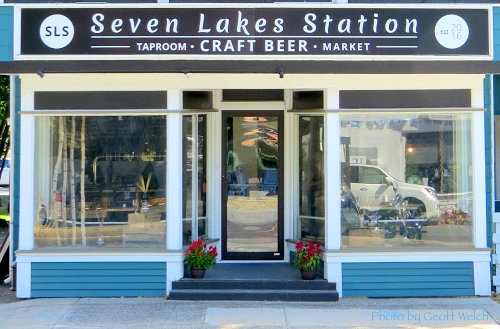 After much thought and planning, the main sign is installed and the house taps are locked and loaded as the Seven Lakes Station craft beer tap house opens in Sloatsburg center village.