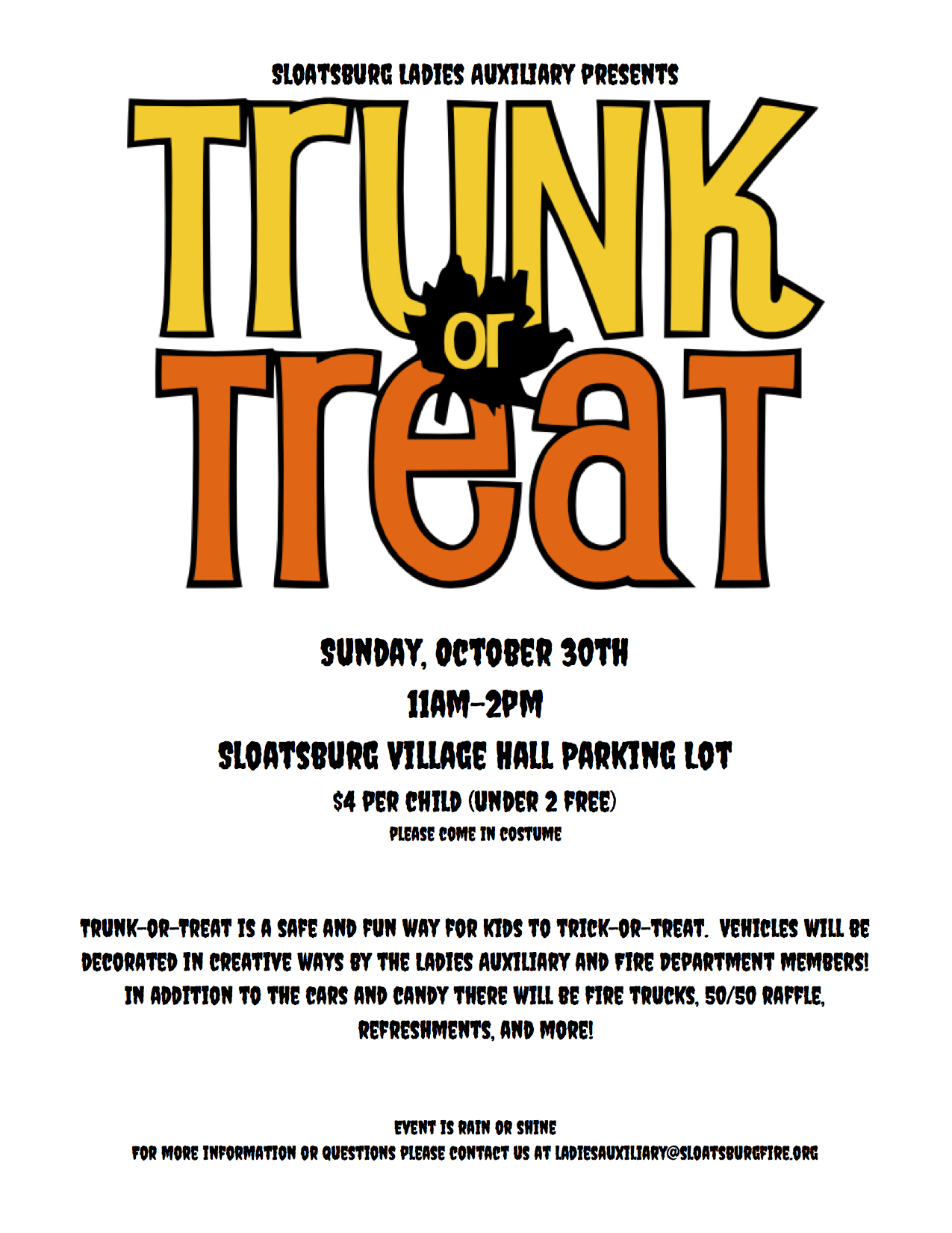 Trunk or Treat @ Sloatsburg Village Hall | Sloatsburg | New York | United States
