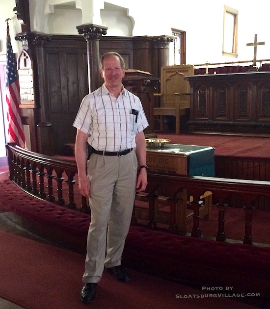 Sloatsburg's United Methodist Church has a new pastor, Ross Tiploff, who is highly motivated to revitalize the once vtial Village landmark - he efforts are quietly paying off.