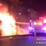 Sloatsburg Fire Department responds to car carrier fire on the NYS Thruway Friday evening