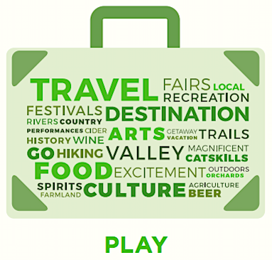 Work and Play icons from the Mid Hudson Economic Development Council's 2016 progress report that advocates and rewards economic investments in the Mid Hudson valley counties via the NY state development grant process.
