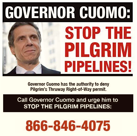 Cuomo Pilgrim Pipelines call to action