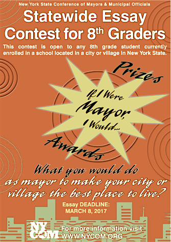 If I Were Mayor Short Essay Contest for Village 8th Graders