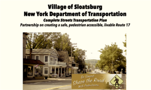 NYSDOT Informational Meeting @ Sloatsburg Village Hall | Sloatsburg | New York | United States