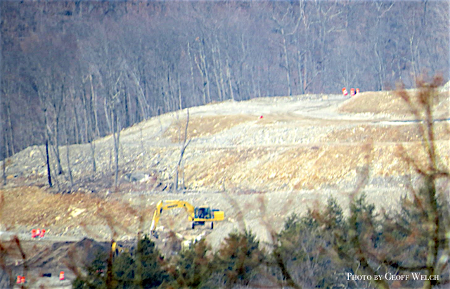 Long view of the Tuxedo Farms land clearing on the mountainside between Tuxedo and Sloatsburg.