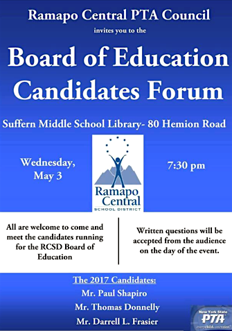 School Board Candidates Forum @ Suffern Middle School | Suffern | New York | United States