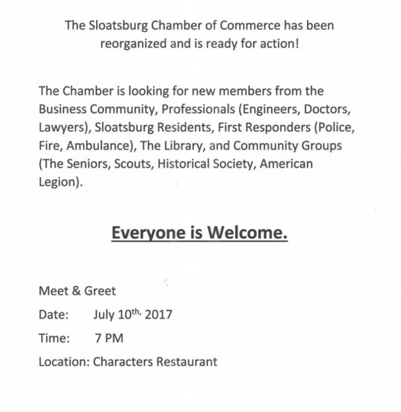 Sloatsburg Chamber Sign Up @ Characters Bar and Restaurant | Sloatsburg | New York | United States