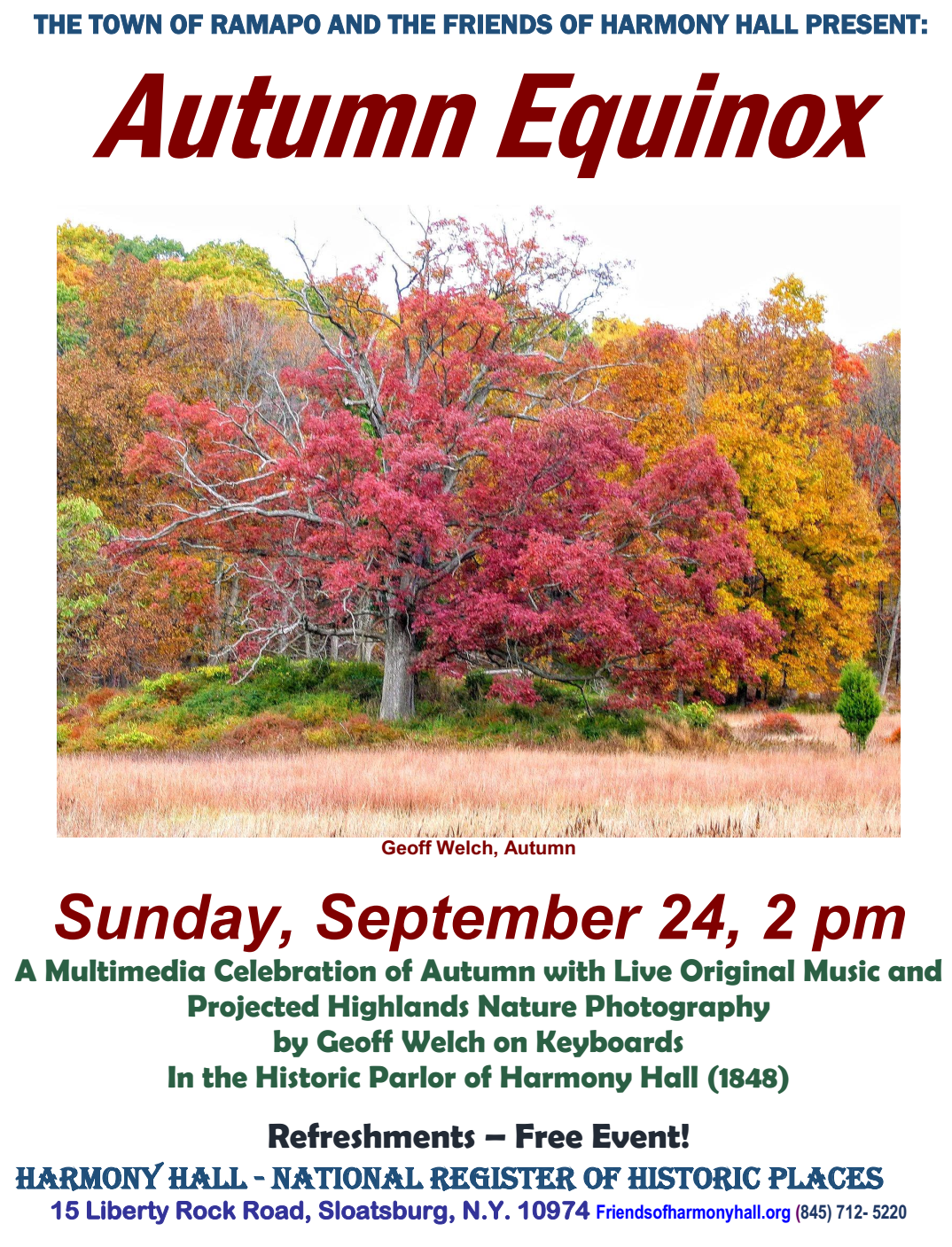 Autumn Equinox @ Harmony Hall | Sloatsburg | New York | United States