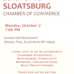 Sloatsburg Chamber Meets Monday