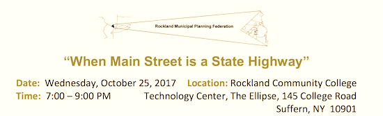 Main Street is a State Highway Discussion @ Rockland Community College | Suffern | New York | United States