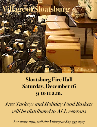 Veteran Holiday Baskets @ Sloatsburg Village Hall | Sloatsburg | New York | United States